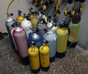 bouteilles de plongée